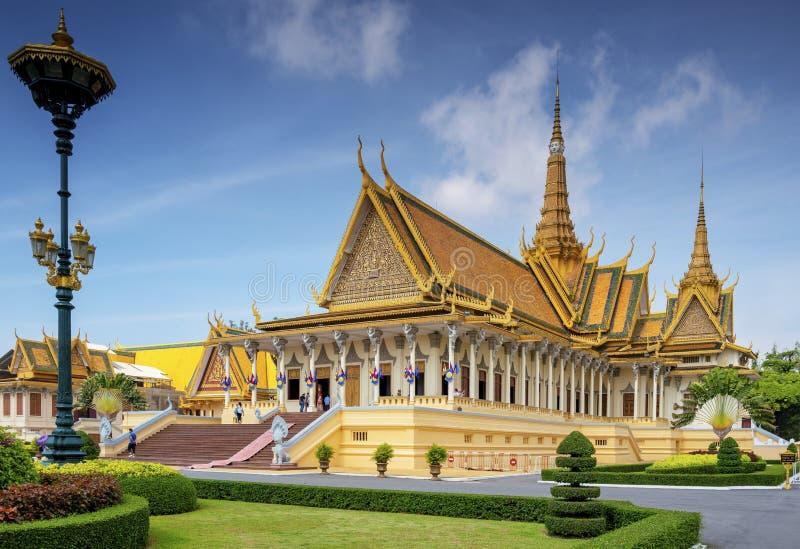 Royal Palace Phnom Penh em Camboja fotografia de stock