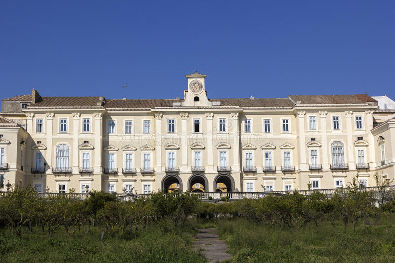 Royal Palace Portici στην Ιταλία στοκ εικόνες