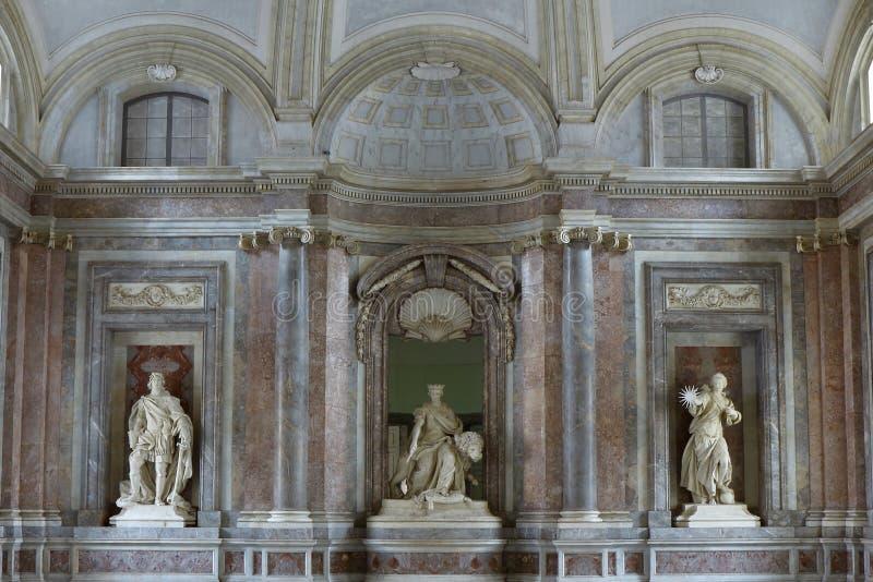 Royal Palace Reggia of Caserta stock photo
