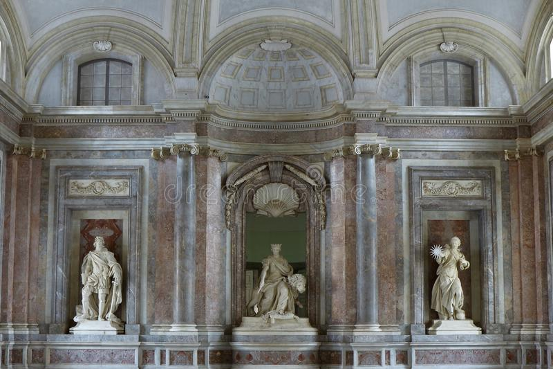 Royal Palace Reggia de Caserte photo stock
