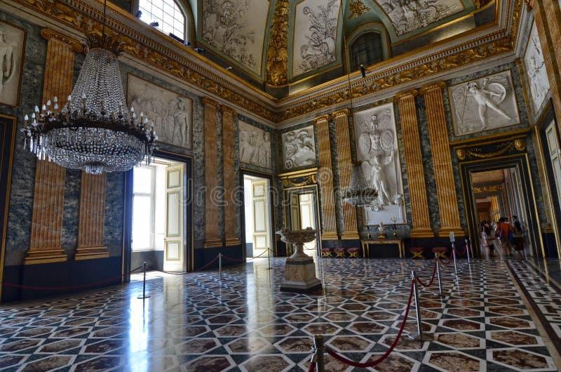 Royal Palace splendido di Caserta, i suoi interni fotografia stock