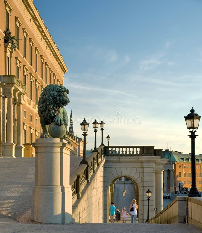 Royal palace in Stockholm stock image