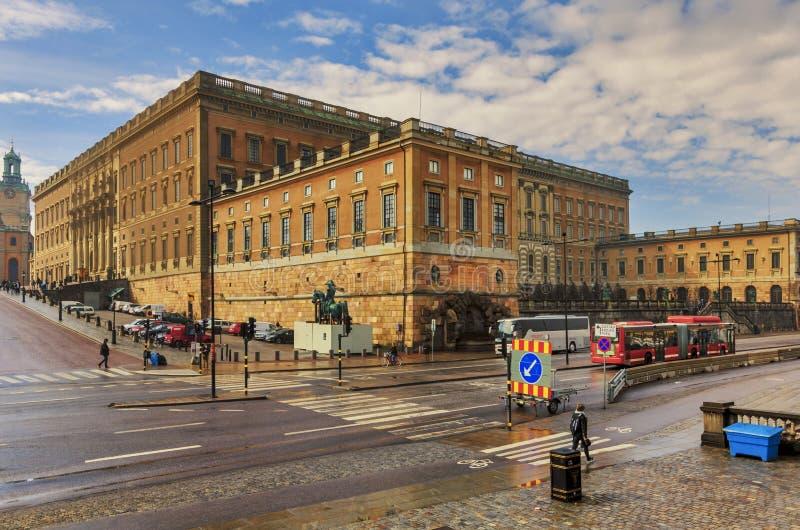 Royal Palace in Stockholm, Sweden stock images