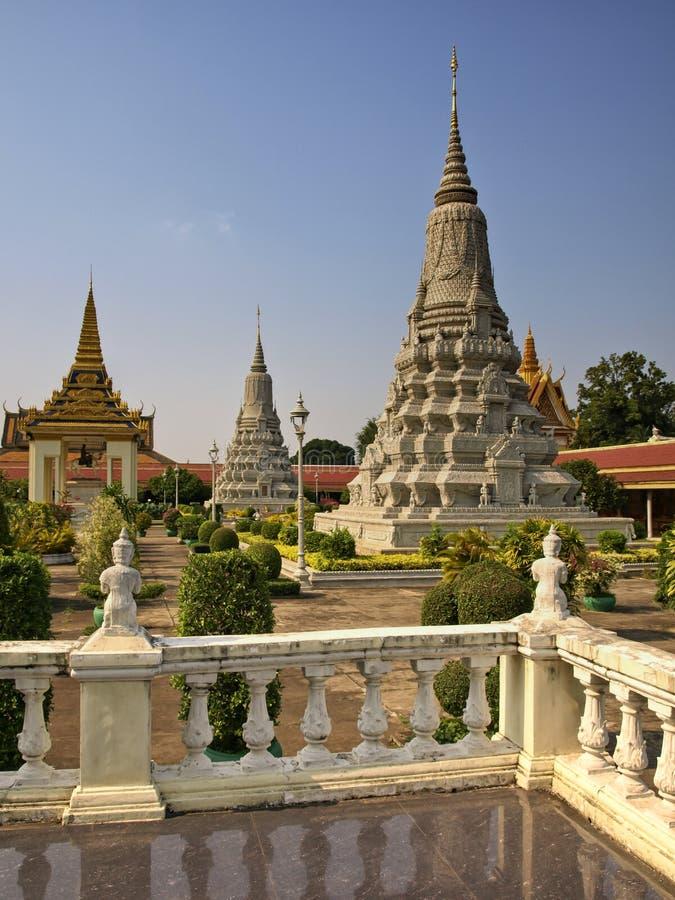Royal Palace, Stupa, Cambodia Foto de Stock Royalty Free