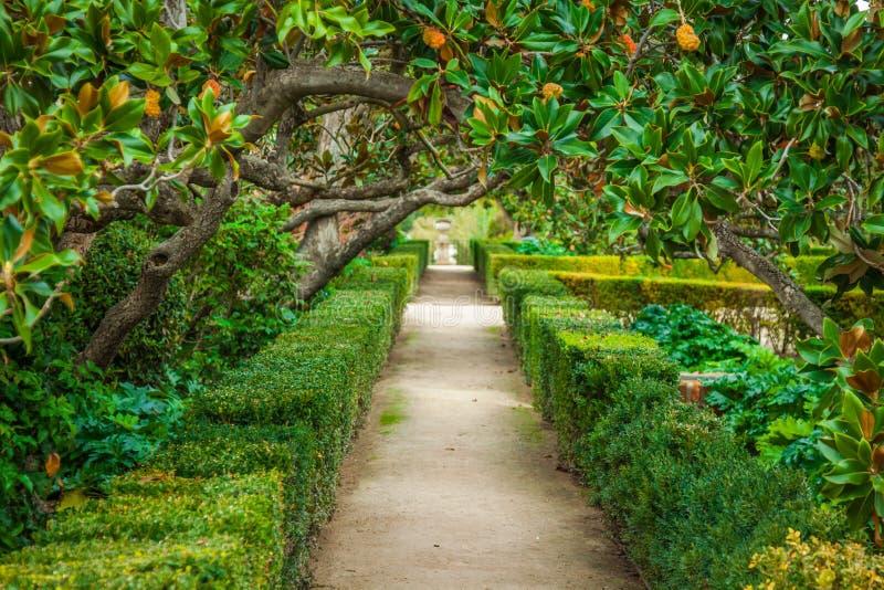 Royal Palace uprawia ogródek, Aranjuez, społeczność Madryt, Hiszpania, Eur zdjęcie royalty free