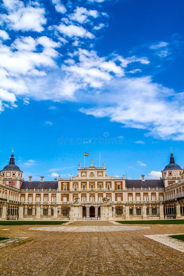 Royal Palace van Aranjuez stock foto