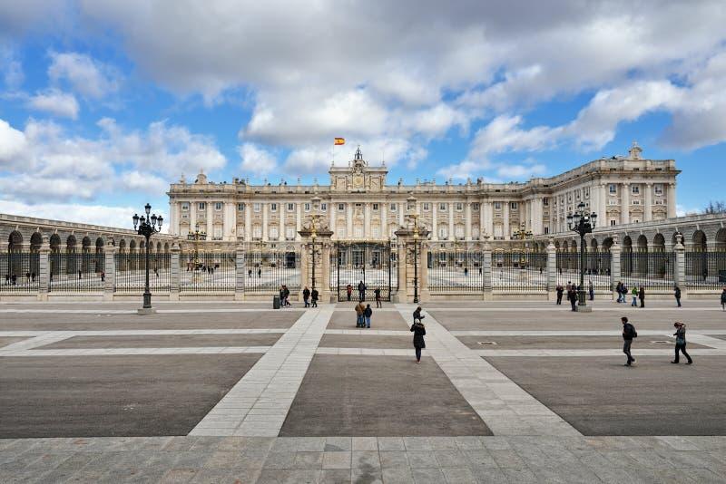 Royal Palace van Madrid royalty-vrije stock fotografie