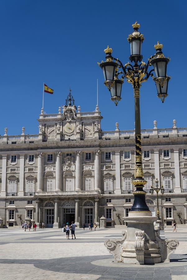 Royal Palace van Madrid, Madrid, Spanje stock fotografie