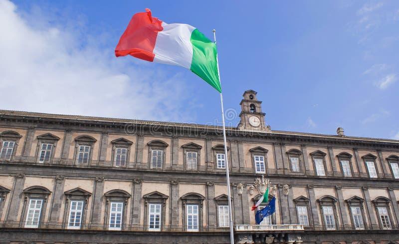 Royal Palace van Napels, Italië royalty-vrije stock fotografie