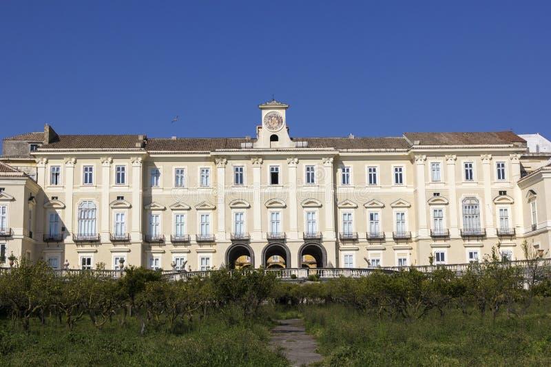 Royal Palace van Portici in Italië stock afbeeldingen
