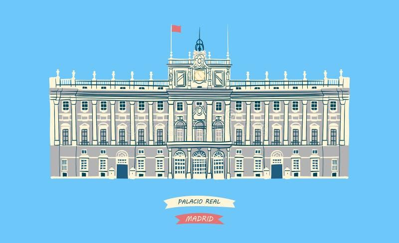 Royal Palace verkliga Palacio vektor illustrationer