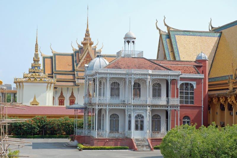 Royal Palace, Villa van Napoleon, Phnom Penh, Kambodja stock foto