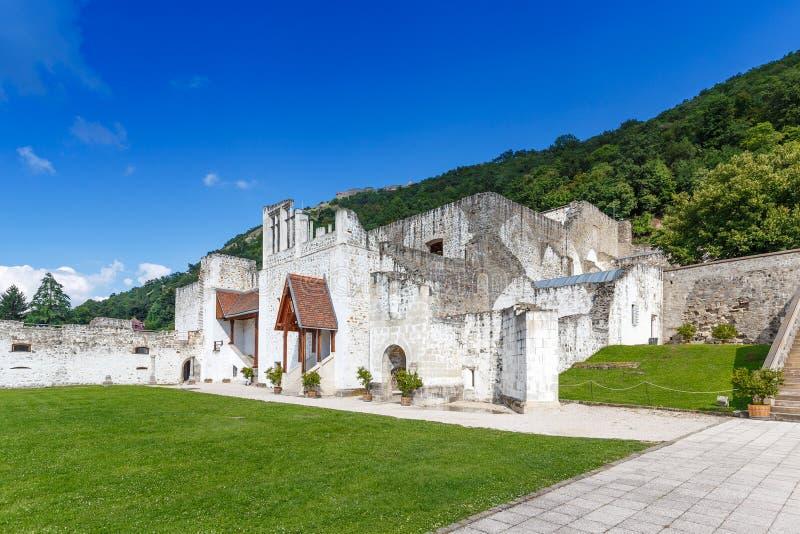 Royal Palace in Visegrad. Summer palace of king Mathhias Corvinus of Hungary royalty free stock photo