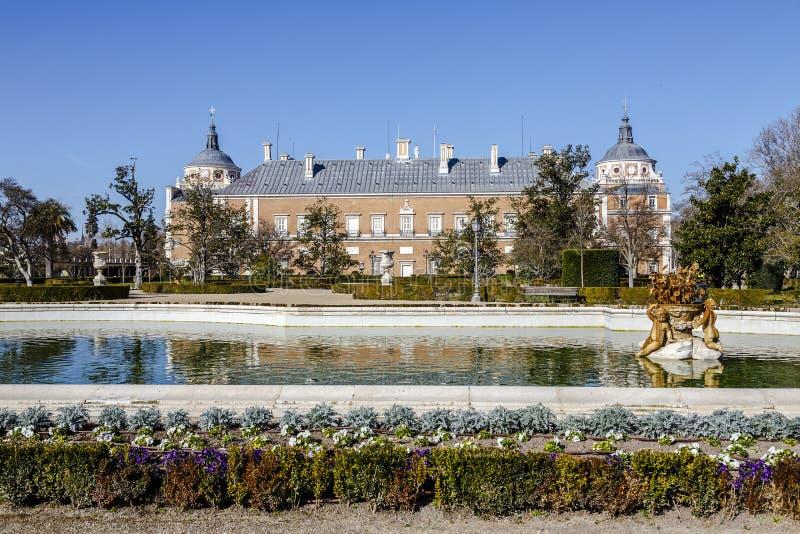 Royal Palace von Aranjuez ist ein Wohnsitz des Königs von Spanien lizenzfreies stockfoto