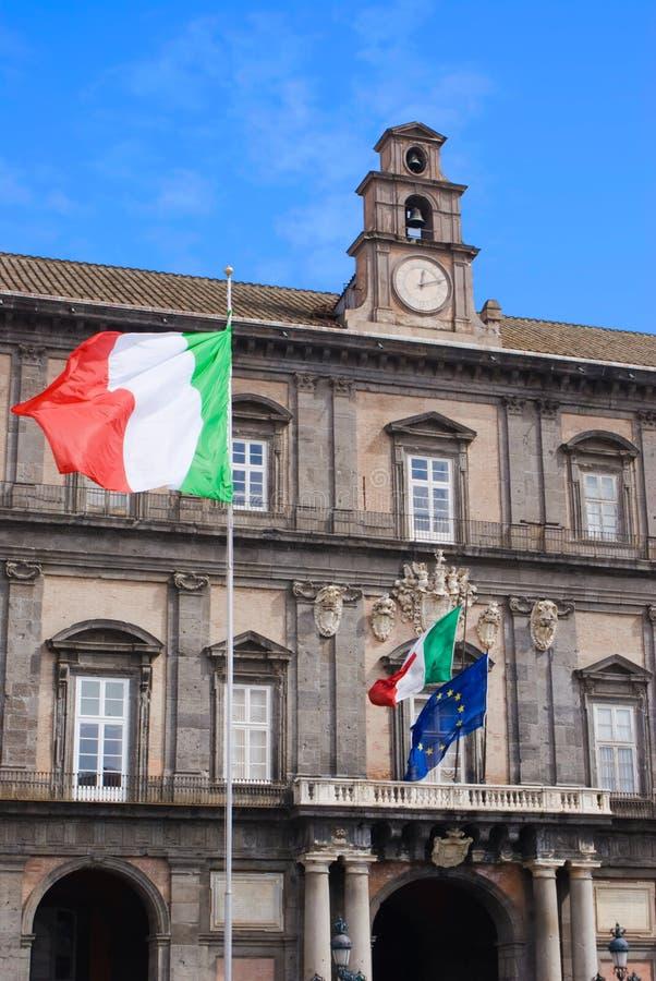 Royal Palace von Neapel, Italien stockfotos
