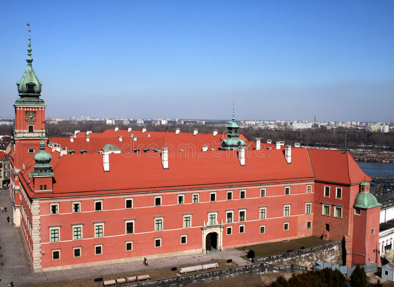 Royal Palace in Warshau stock afbeeldingen