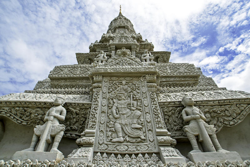 Royal Palace - Zilveren Pagode - Phnom Penh - Kambodja royalty-vrije stock afbeelding