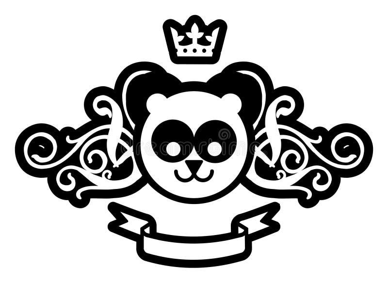 Royal Panda vector illustration