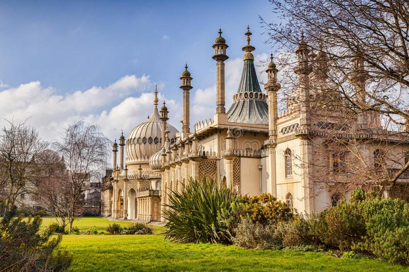 Royal Pavilion, Brighton, Sussex, UK. Brighton, UK -The Royal Pavilion in early spring stock images