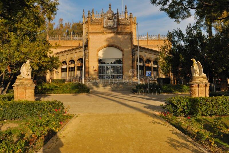 Royal pavilion in Maria Luisa Park stock image