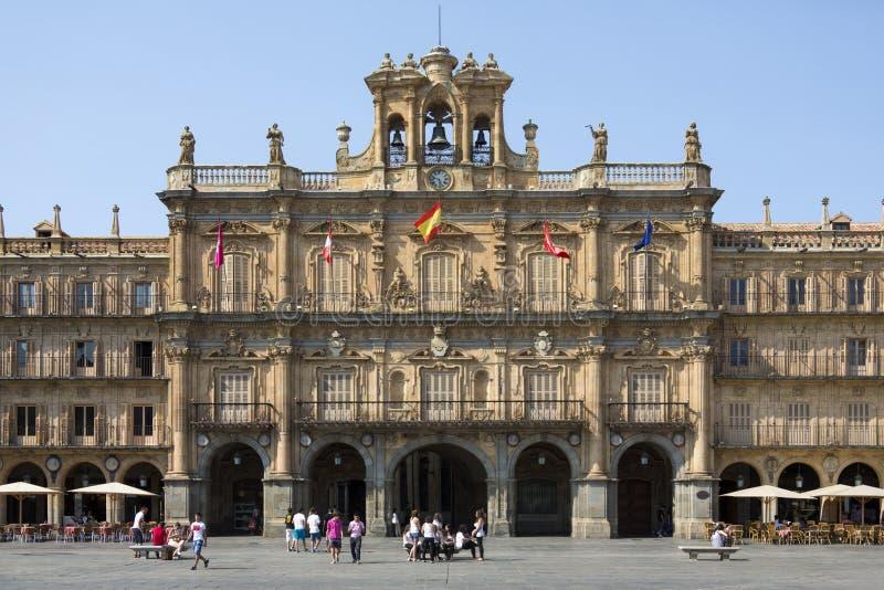 Royal Pavillion - Plaza Major - Salamanca - Spain stock images