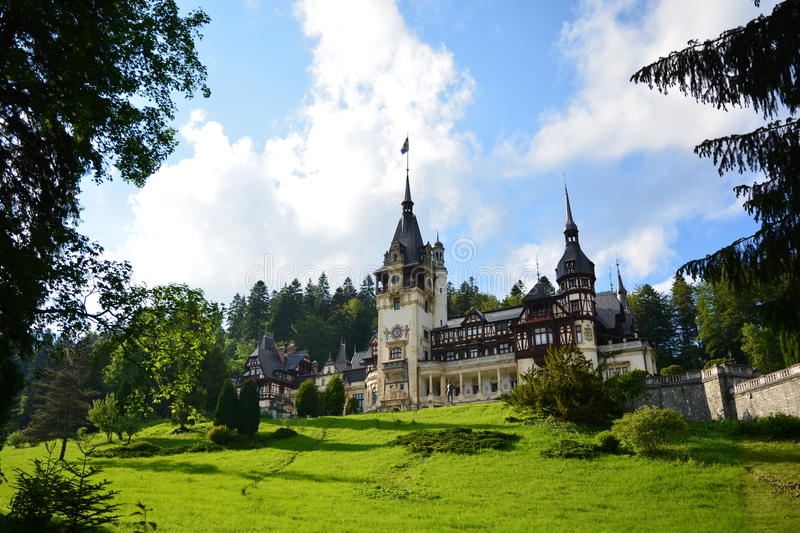 Royal Peles castle in Sinaia, Romania royalty free stock images
