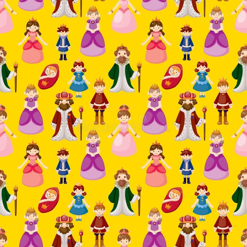Royal people seamless pattern