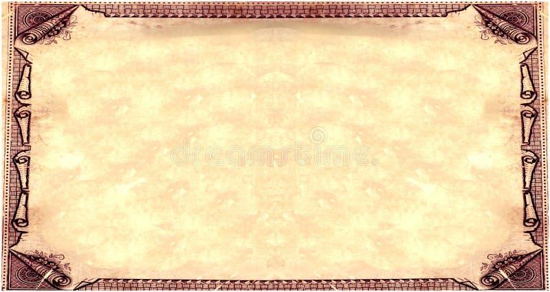 royal pergaminowy sepiowy papier royalty ilustracja