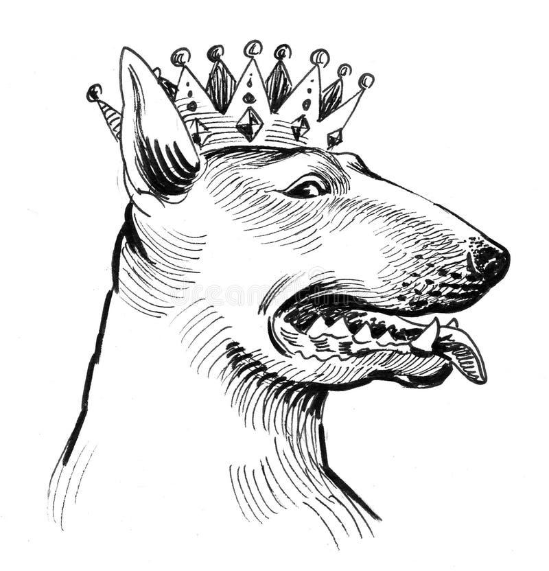 Royal pitbull stock illustration