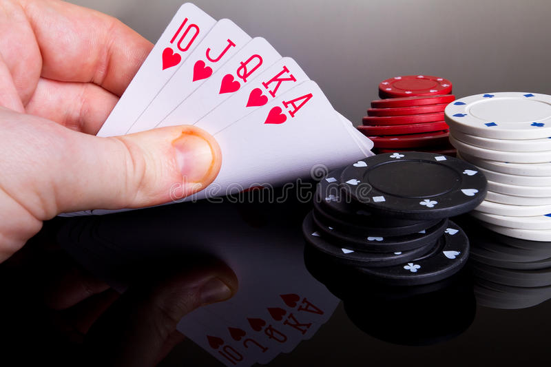 Download Royal poker stock image. Image of leisure, hold, black - 22939519