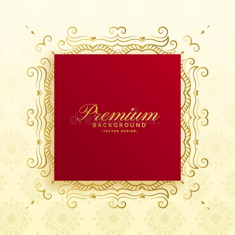Royal premium luxury background card design royalty free illustration