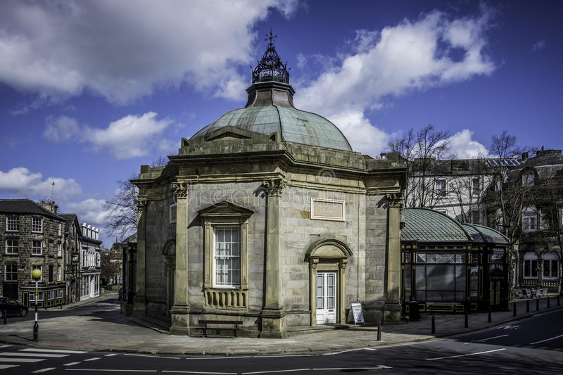 The Royal Pump Room Museum Harrogate. Formerly a spa water pump house, it is now a museum stock photography