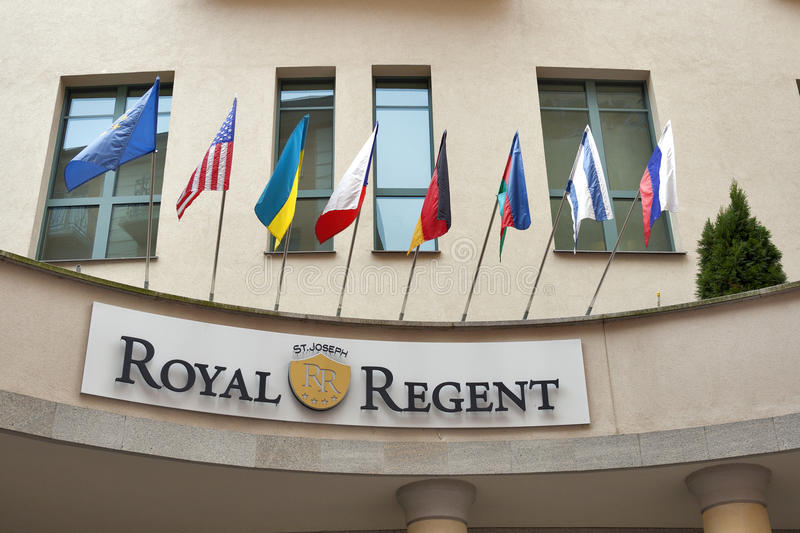 Download Royal Regent Hotel In Karlovy Vary Editorial Photography - Image of regent, window: 28881622