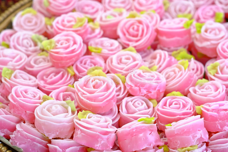Royal rose candy. Rose candy in a market royalty free stock images