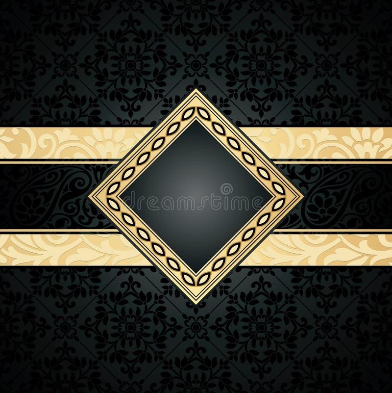 Royal seamless wallpaper and banner. Royal seamless vector wallpaper and banner royalty free illustration