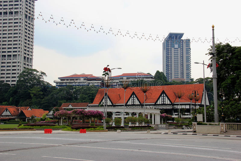 Royal Selangor Club. The Royal Selangor Club, found in 1884 by the British who ruled Malaya, is a social club located next to Merdeka Square in Kuala Lumpur royalty free stock photography