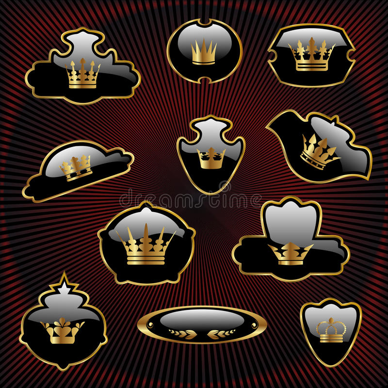 Download Royal set stock vector. Image of packing, gold, illustration - 11705874
