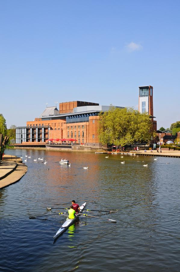 Royal Shakespeare theatre, Stratford-upon-Avon. royalty free stock photography