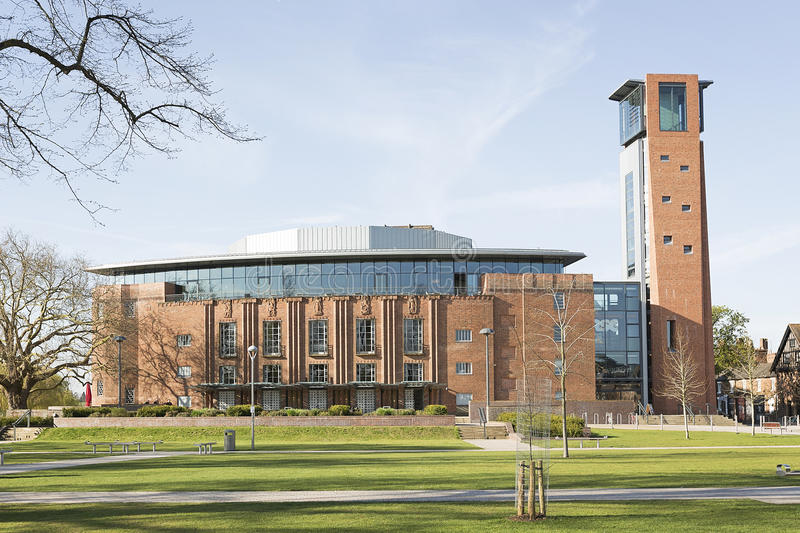 Royal Shakespeare Theatre and Swan Theatre in Stratford-upon-Avon, England, royalty free stock image