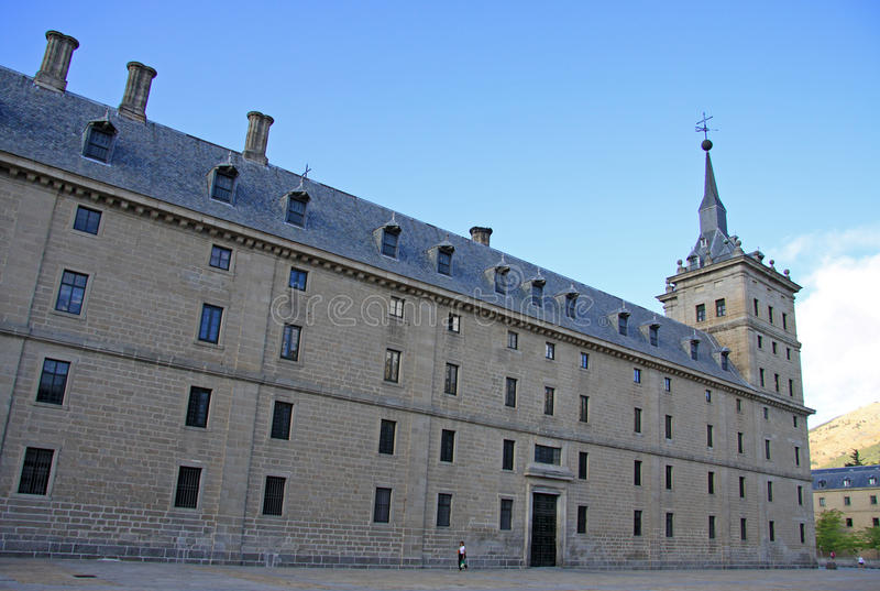 The Royal Site of San Lorenzo de El Escorial, a historical residence of the King of Spain royalty free stock photo