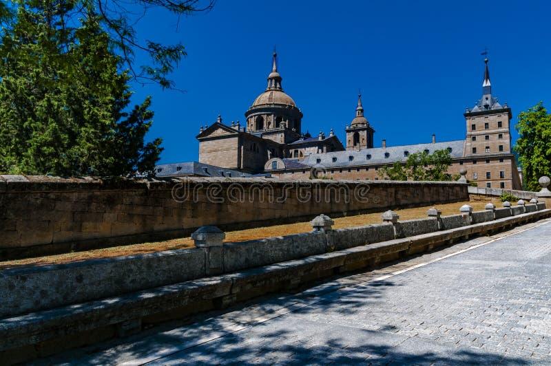 Monastery of San Lorenzo de El Escorial. Madrid, Spain. royalty free stock image
