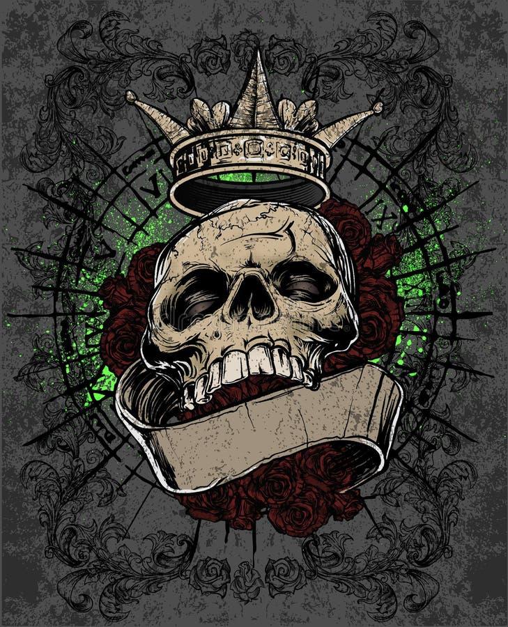 Royal Skull stock illustration