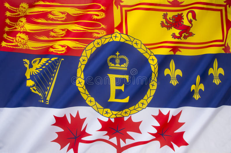 Royal Standard of Canada royalty free stock image