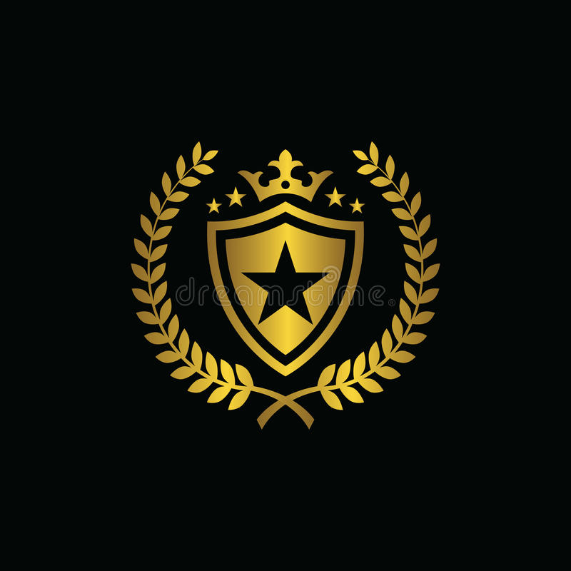 Royal Star Sport Symbol. A great vintage badge for your personal business stock illustration