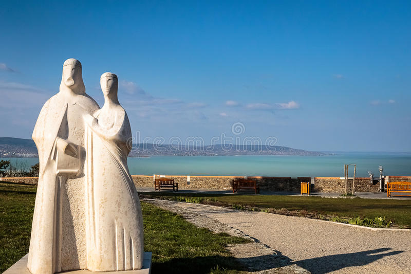 Royal statues in Hungary stock photography