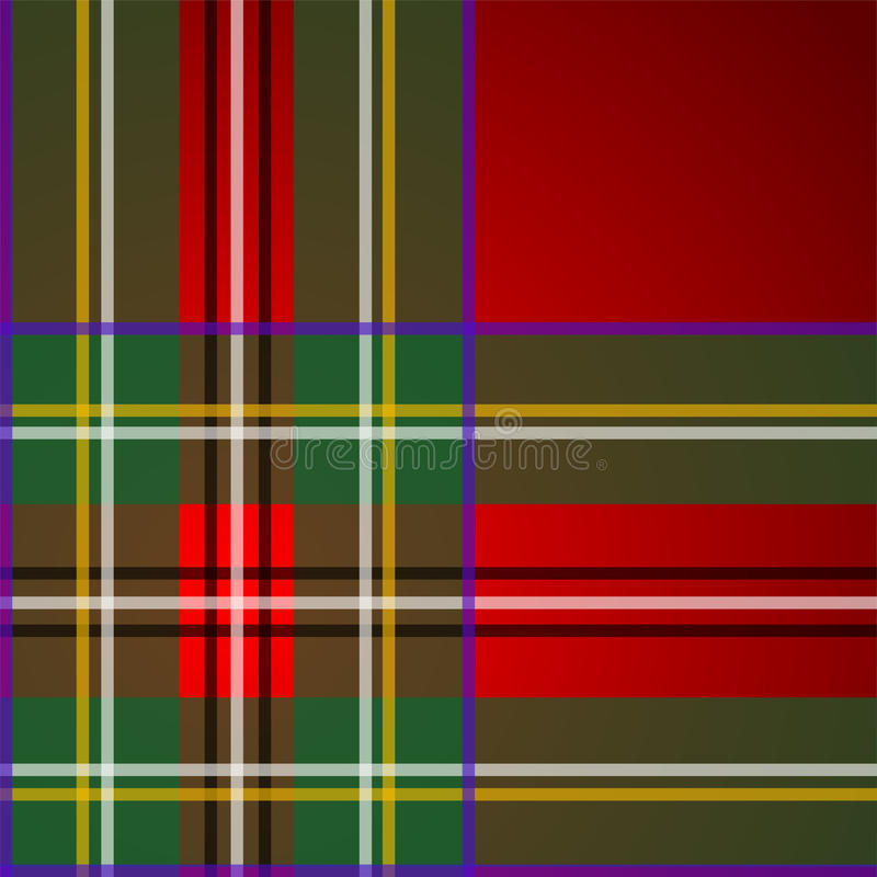 Royal Stewart tartan, pattern. Beautiful red tartan as background or seamless pattern stock illustration