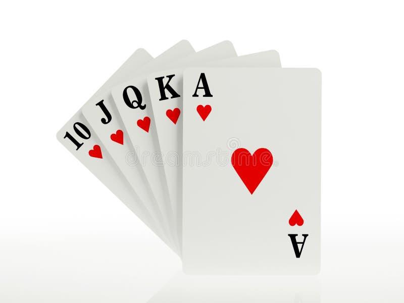 Download A royal straight flush stock illustration. Image of gamble - 28823211