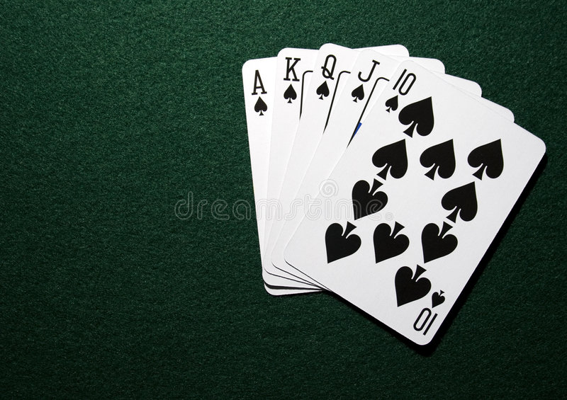 Download Royal straight in spades stock image. Image of success - 7147767