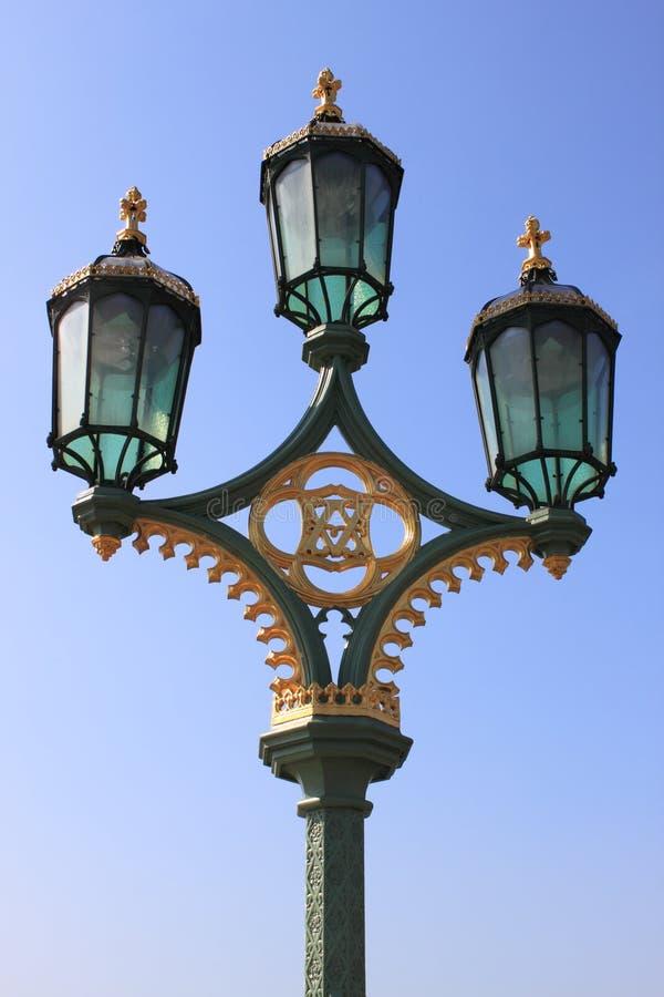 Royal street lamp stock photography