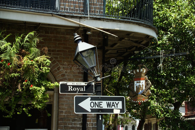 Royal Street sign in New Orleans stock photos